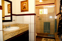 Main Bath with Granite Vanity and Rain Shower